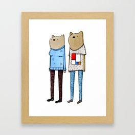 Hipster Wombats Framed Art Print