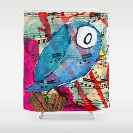Bluebelle  - Quirky Bird Series Shower Curtain