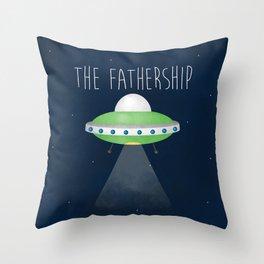 The Fathership Throw Pillow
