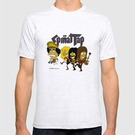Spinal Tap kicking Muammar Gaddafi in the butt, the timeless classic T-shirt