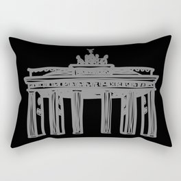 Brandenburg Gate in Berlin (black and yellow) Rectangular Pillow