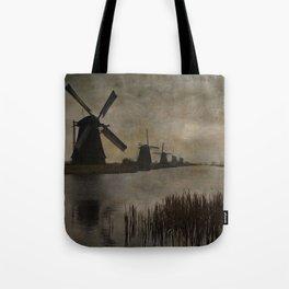 Windmills at Kinderdijk Holland Tote Bag