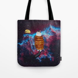 Cat Bacon and Taco Space Tote Bag