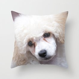 The Innocence of a Puppy Throw Pillow
