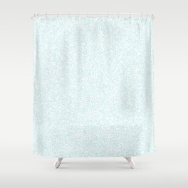Spacey Melange - White and Light Cyan Shower Curtain