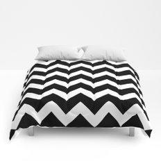 Chevron Black & White Comforters
