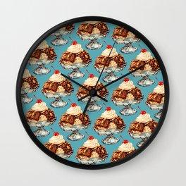 Ice Cream Sundae Pattern Wall Clock