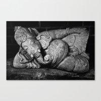 ganesha Canvas Prints featuring Ganesha by Falko Follert Art-FF77