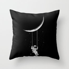 Moon Swing Throw Pillow