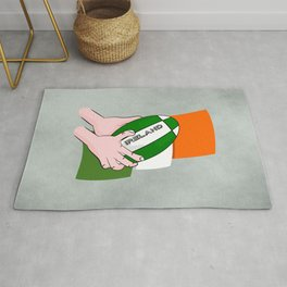 Rugby Ireland Flag Rug