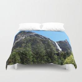 The Yosemite Park Bridal Veil Falls Duvet Cover