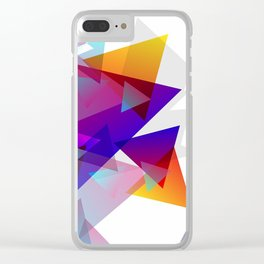 Kaleidoscopic Fragments Clear iPhone Case