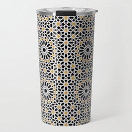 seamless oriental pattern x2 geometric design traditional mosaic style Travel Mug