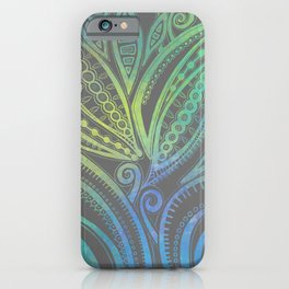 Lazy Days - Teal  iPhone Case