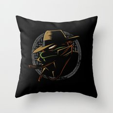 Undercover Ninja Mikey Throw Pillow