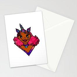 Black Girl Unicorn Stationery Cards