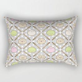 Mochi Kochi | Pattern in Grey Rectangular Pillow