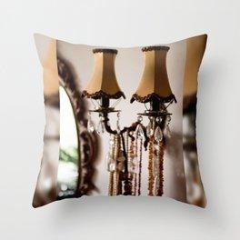 Decorative retro night lamp Throw Pillow