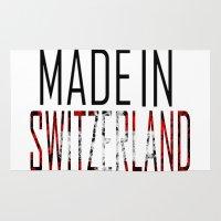switzerland Area & Throw Rugs featuring Made In Switzerland by VirgoSpice