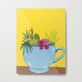 Sucks to Succulent Metal Print