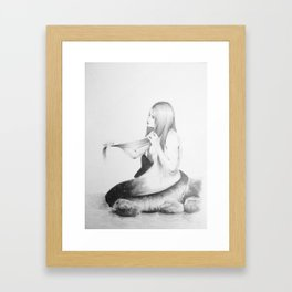Simple Mermaid  Framed Art Print