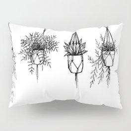 Succulent & macrame Pillow Sham