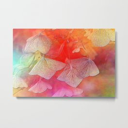 Withered hydrangea Metal Print