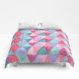 pastel triangle pattern Comforters