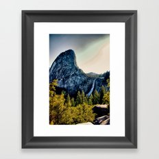 Yosemite Nevada Falls, Liberty Cap Framed Art Print