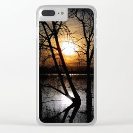 Departing Colors Clear iPhone Case