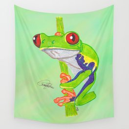 Red Eye Tree Frog Wall Tapestry