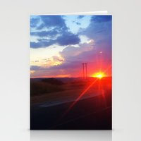 south africa Stationery Cards featuring Sunset in South Africa by Rebekah Cano