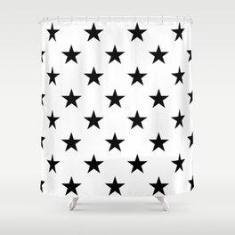 Stars (Black/White) Shower Curtain