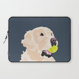 Golden Retriever with tennis ball Laptop Sleeve