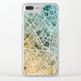 Bogota Colombia City Map Clear iPhone Case