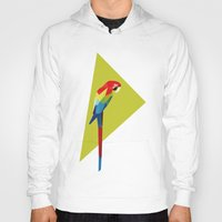 parrot Hoodies featuring parrot by William