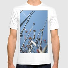 Skyscrapers Reach White MEDIUM Mens Fitted Tee