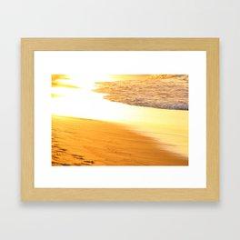 golden beach Framed Art Print