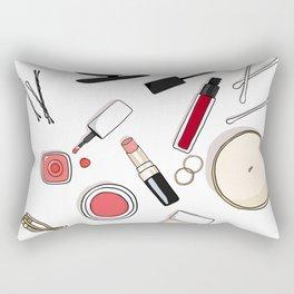 Beauty Routine Rectangular Pillow