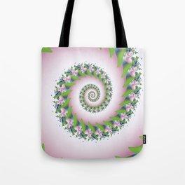 Pink Pearl Abstract Fractal Art Tote Bag