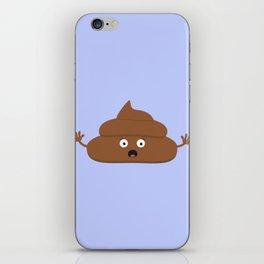 Frightened poo iPhone Skin