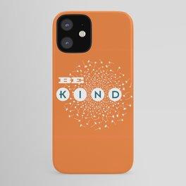 Be Kind (orange/blue) iPhone Case