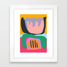 Shapes and Layers no.26 - Modern Abstract Flowers Framed Art Print