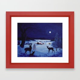 Christmas in the country Framed Art Print