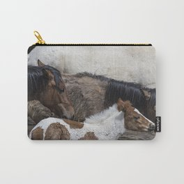 Pinto Foal Enjoying a Dip - South Steens Mustangs Carry-All Pouch