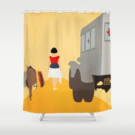 Kidnapping Caucasian Style Shower Curtain