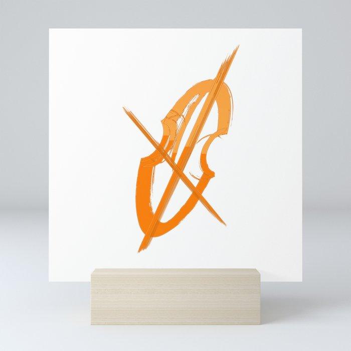 Cello Music Theme Terracota Copper Mini Art Print