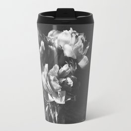 peonies [bw] 03 Travel Mug