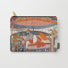 16th Century India Watercolor Painting Carry-All Pouch