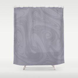 Pantone Lilac Gray Abstract Fluid Art Swirl Pattern Shower Curtain